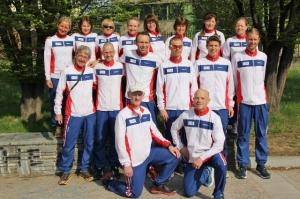 Hele den norske VM-troppen. Utrolig moro med fem herrer og damer. Og gratulerer med norgesrekord Ninette!