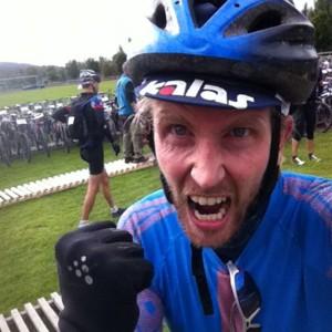 Sykkel er moro! Her en jubelscene fra Birken i fjor der jeg var raskest i min startpulje og kom inn på 3.04.