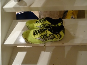 Wave Hitogami - skoene på Oslo helmaraton. De ser tøffe ut og virker veldig gode - i hvert fall så langt.
