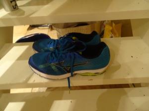 Sayonara ble prøvd på den tøffeste distansen for me denne dagen - halvmaraton. Med en maraton i beina og varmt vær ble en del krampetull fra 5-15 km. Men skoa fungerte de!